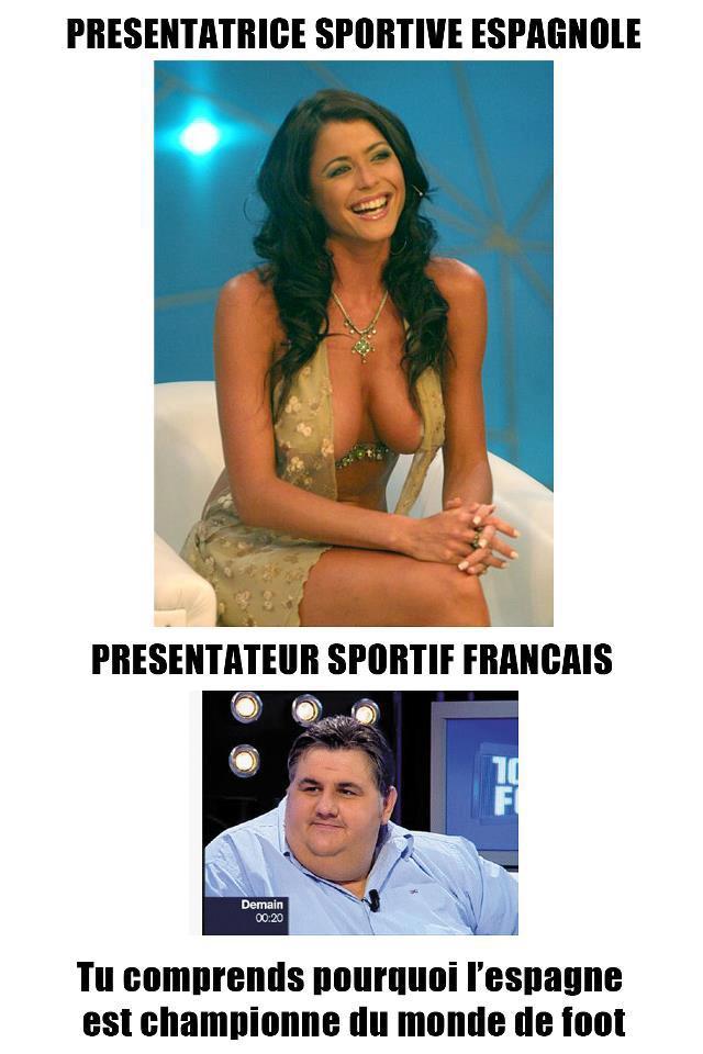 Présentatrice-sportif-Espagnole-Vs-Présentateur-sportif-Francais-