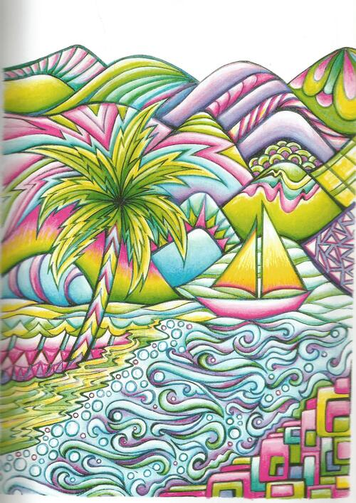 DOMANDALAS  album de 30 coloriages magical landscapes de Miryam Adatto