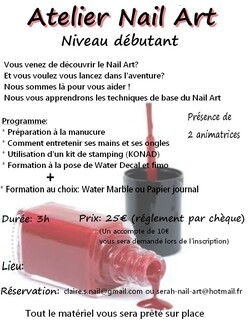 Atelier Nail Art!