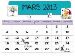 AFFICHAGES CALENDRIERS