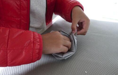 Le pliage serviettes de Morgane
