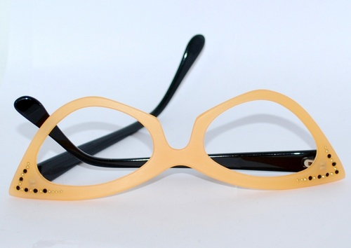lunette style vintage orange pale