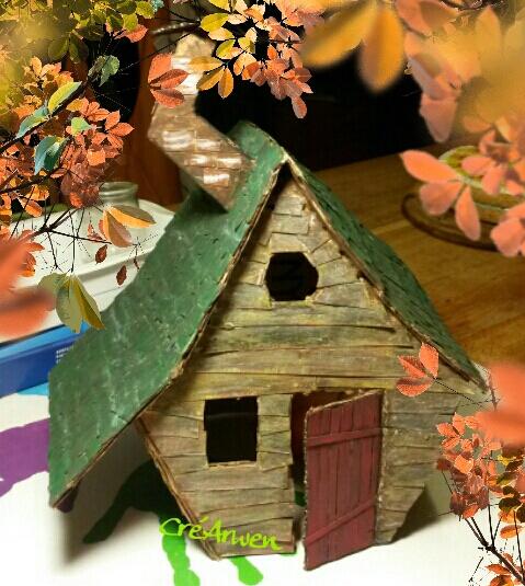 - Maison de sorcière en carton