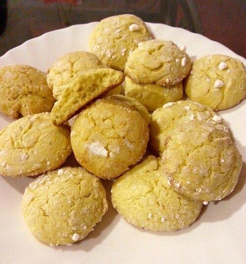 Petits craquelés au citron ou lemon crinckles