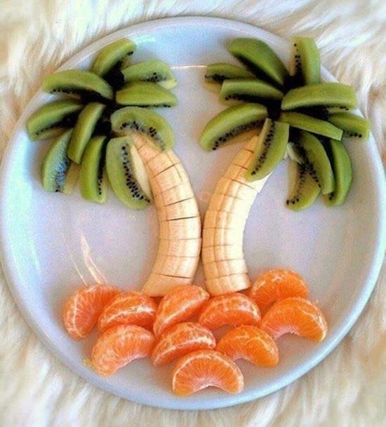palmier banane kiwi mandarine