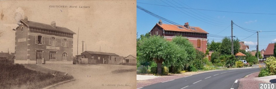 La gare, aujourd'hui une propriété privée : Coutiches
