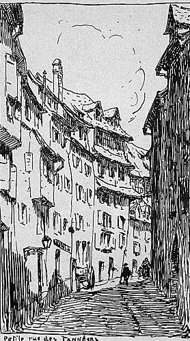 Quartier des tanneurs : petite rue des tanneurs