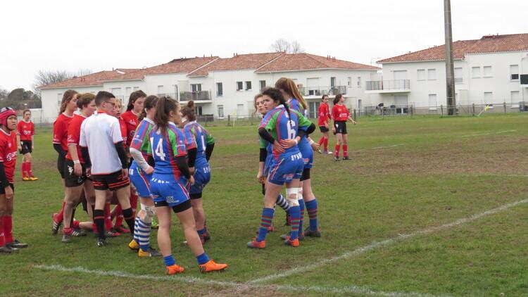 2019-01-12 : Les cadettes à St André de Cubzac