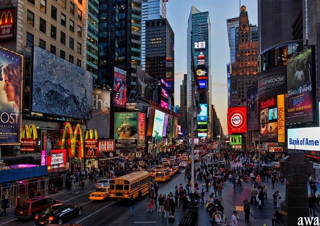 New York en mai 2016: BRODWAY la nuit, CENTRAL  PARK et l' O N U