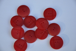 Boutons rouge carmin