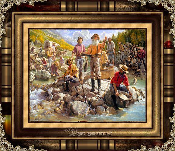 Cadre pionniers cow-boy 17