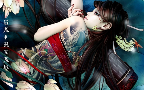 Image de anime and tattoo