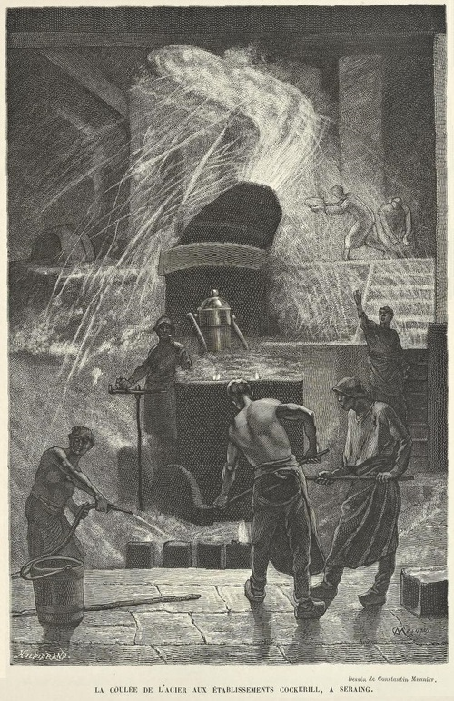 Camille Lemonnier - La Belgique (Cockerill, dessin de Constantin Meunier)