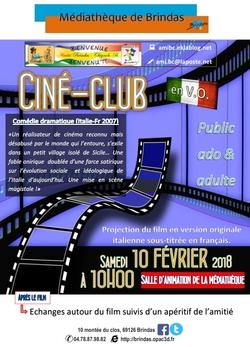 Ciné-Club le 10 février à 10h Le metteur en scène de mariages de Marco Bellochio