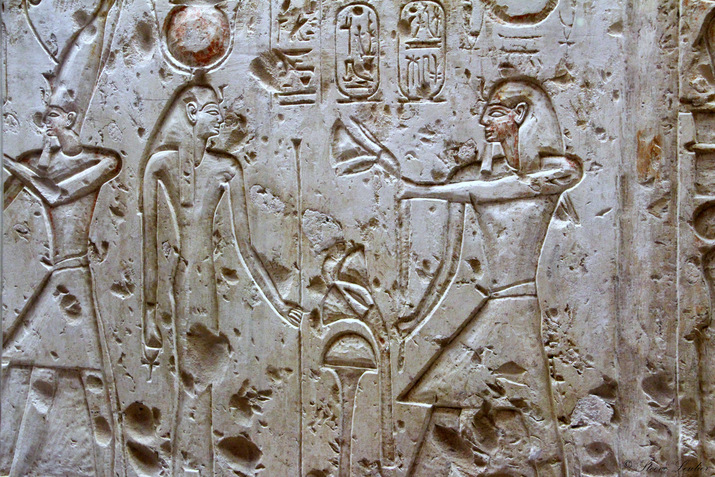 Nouvel Empire, XIXe dynastie, Ramsès II, Fresques d'Abydos