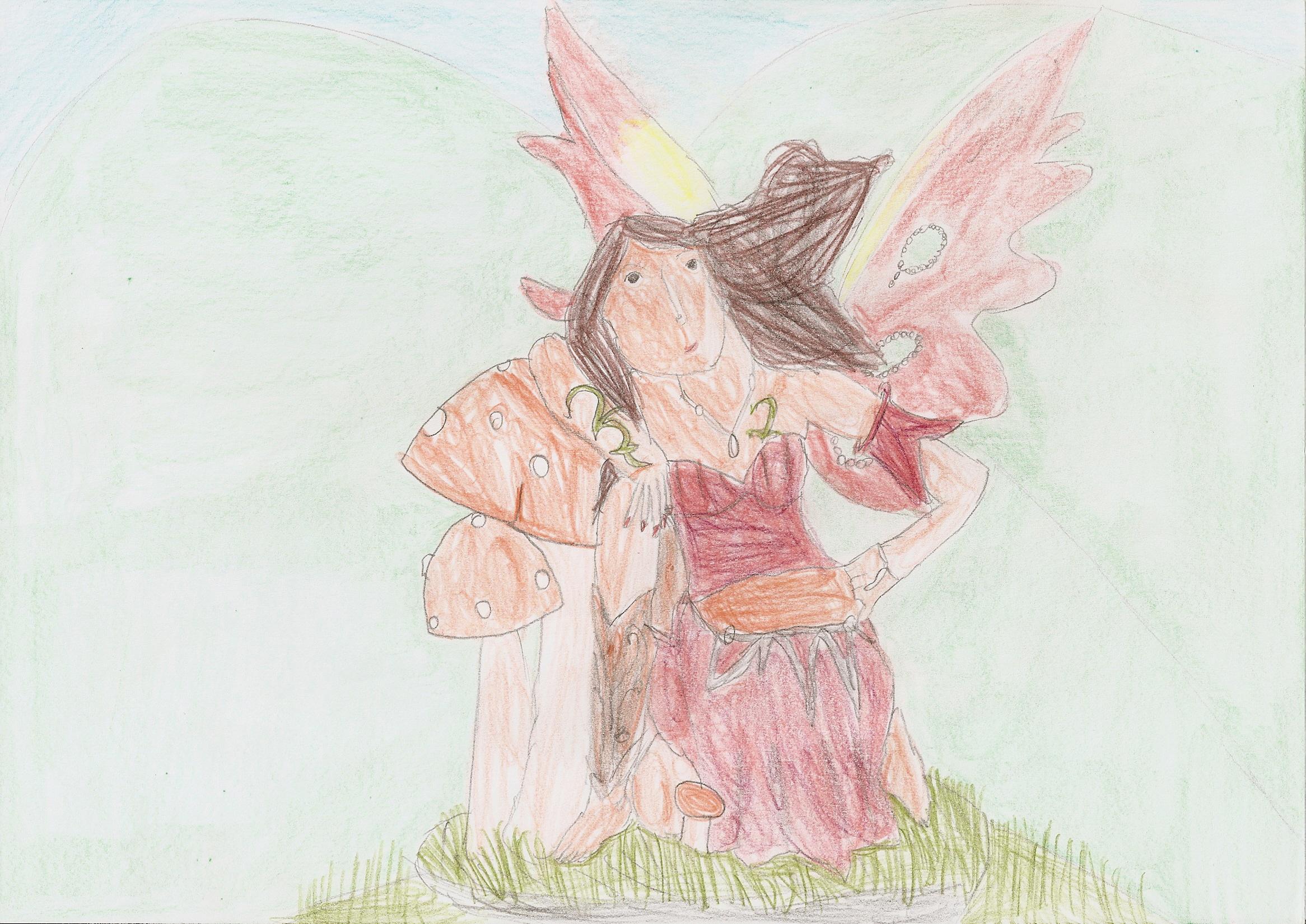 Fée Lilith ou fée rouge guerrière