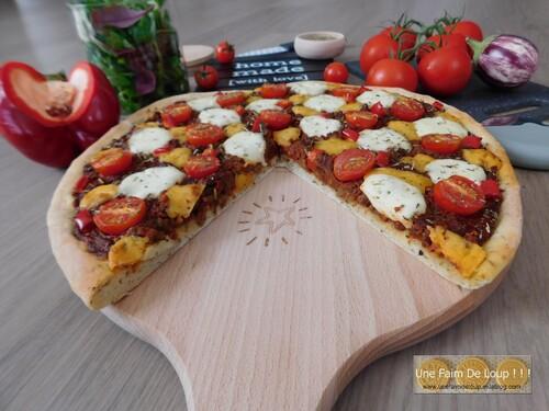 Pizza bolognaise végétale