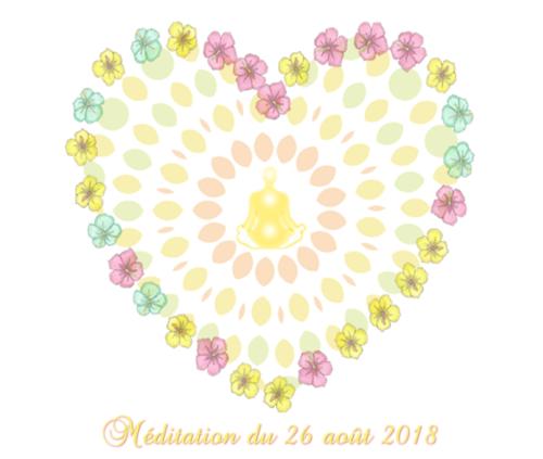 Méditation du 26 août 2018