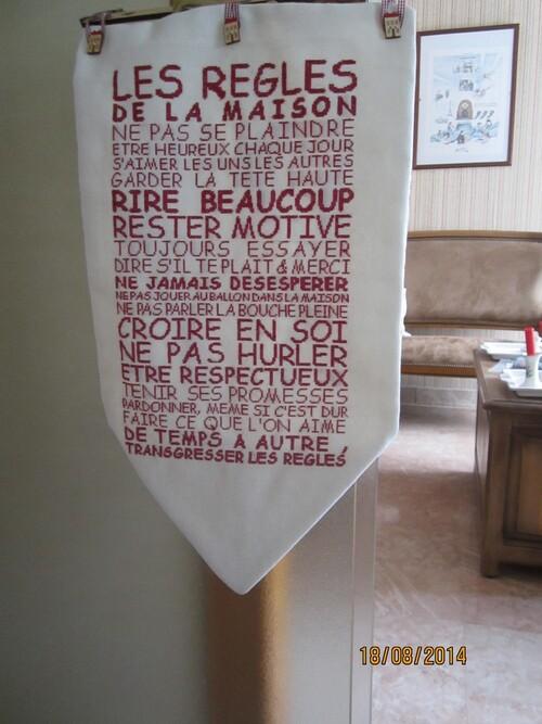SAL règles de la maison