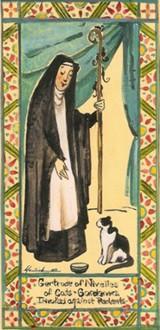 Sainte Gertrude de Nivelles († 659)