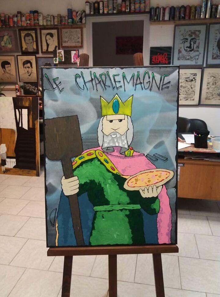 Pizzeria Le Charlemagne à Attigny 08130. 80x60cm
