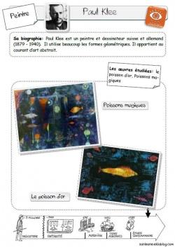 """Les poissons en arts visuels:""""Aujourd'hui je suis"""""""