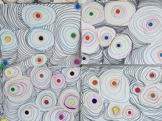 Cercles stylisés (CP)