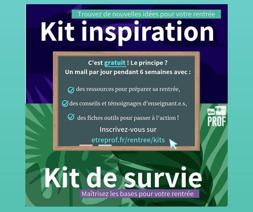 Le kit de survie d'Etre Prof