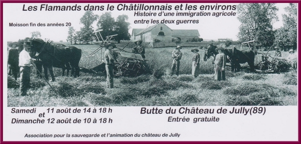 """L'exposition """"Les Flammands dans le Châtillonnais"""" sera visible à Jully les 11 et 12 août prochains"""