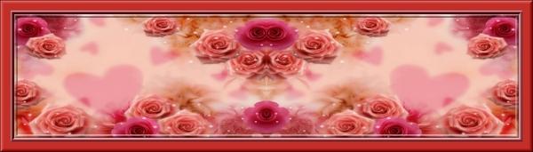 Bannières de fleurs