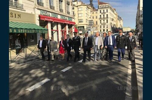 * 3 septembre 2018 - cérémonies commémoratives du 74e anniversaire de la Libération de Lyon