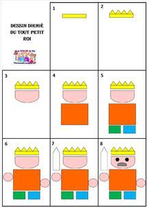 Le tout petit roi - dessin dirigé du roi et de la princesse