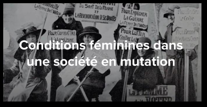 Conditions féminines dans une société en mutation