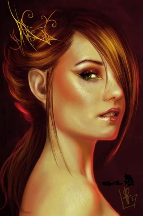 dames, fées et anges d'automne