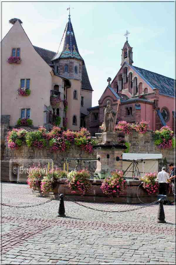 Alsace route des vins de Thann à Wettolsheim Eguisheim
