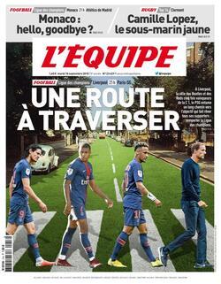 """L'Equipe et sa Une 'dans le vent""""."""