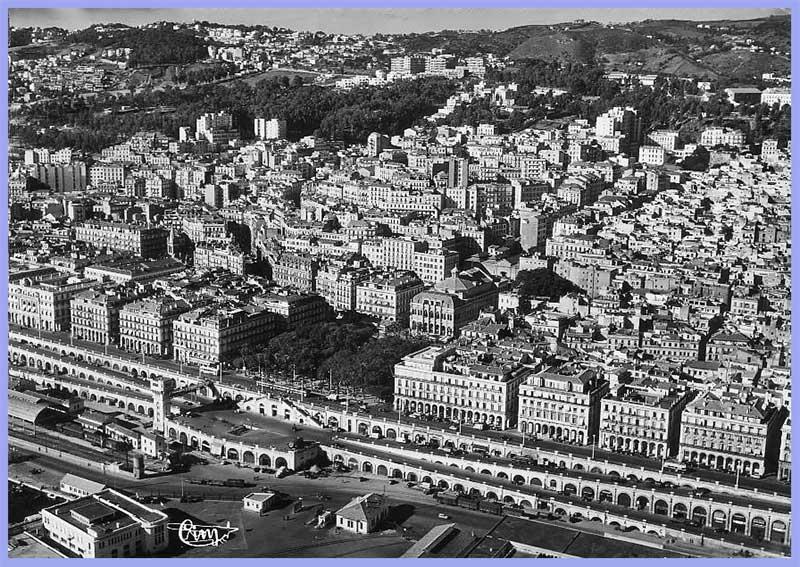 Vue aérienne - Square Bresson - Boulevards Carnot et de la République