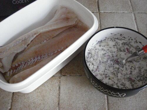 Des Filets d'Eglefin aux Echalotes et Oignons