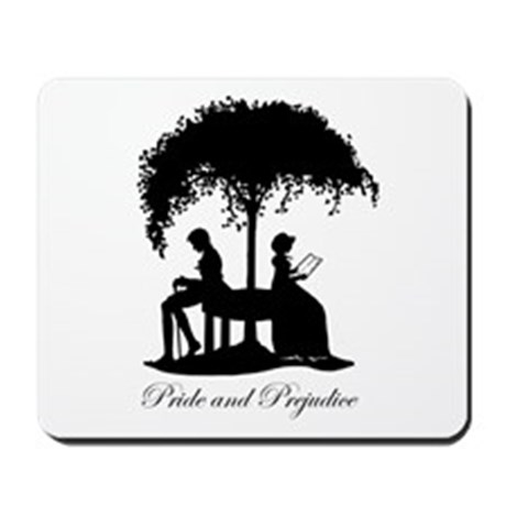Jane Austen Pride and Prejudice Gift Mousepad by aliceflynn