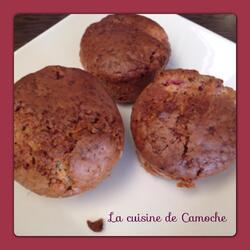 Muffins aux framboises et au chocolat blanc