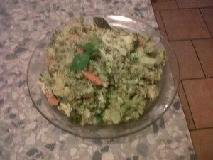 poêlée de légumes maison, boudin noir