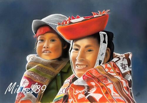 Mère et enfant Quechuas