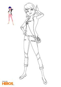 Coloriages Marinette