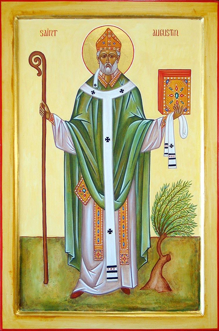 Saint Augustin. Evêque d'Hippone, Docteur de l'Eglise († 430)