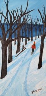 Activité hivernale à Charlevoix