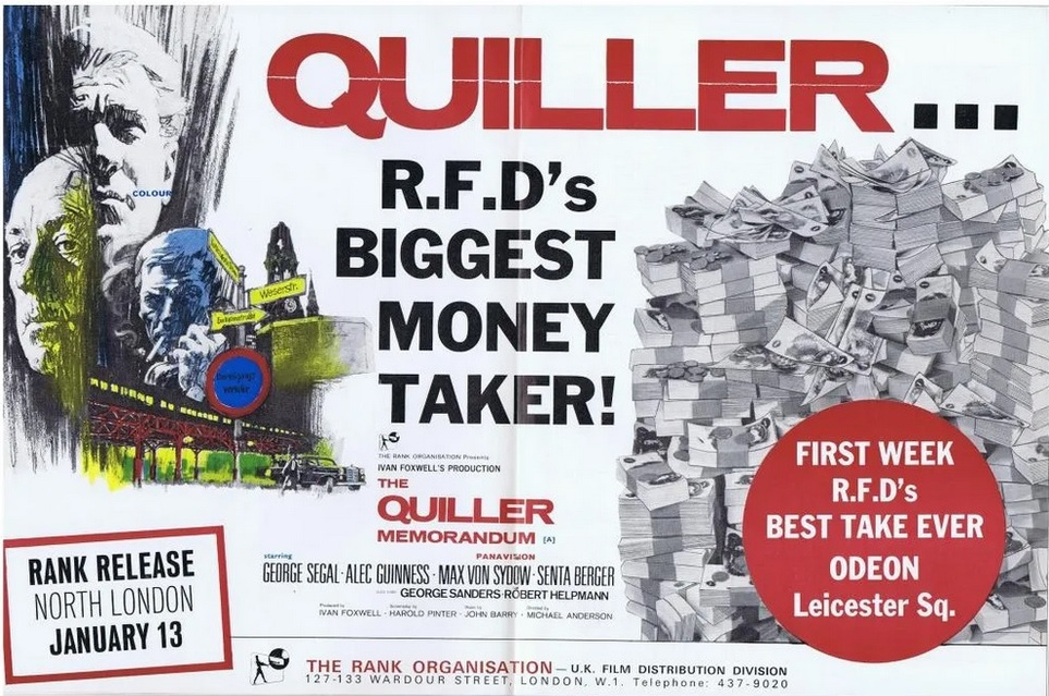 THE QUILLER MEMORANDUM box office usa 1966