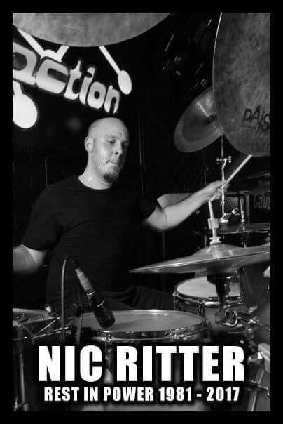 WARBRINGER - Décès de l'ex-batteur du groupe Nic Ritter