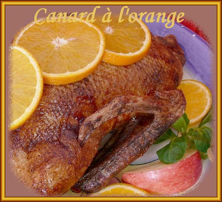 Recette de cuisine : Canard à l'orange