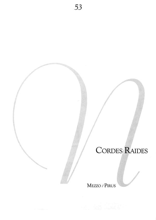 Cordes raides