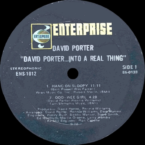 "David Porter "" David Porter...Into A Real Thing "" Enterprise Records ENS-1012 [US]"
